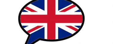 L'image est composée d'une grande bulle de BD aux contours noirs, contenant le drapeau britannique