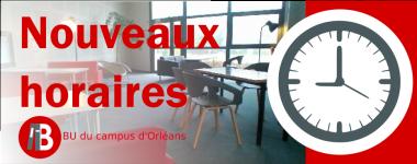Nouveaux horaires BU du campus d'Orléans