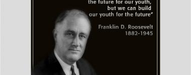 Photo N&B  de T Roosevelt, en buste,