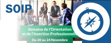 Semaine de l'orientation et insertion professionelle du 20 au 24 novembre dans les BU