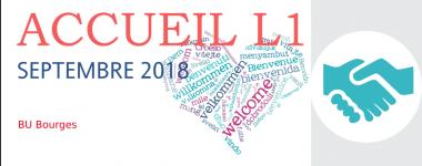 Accueil L1 septembre 2018 à la BU Bourges