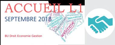 Accueil L1 septembre 2018 à la BU Droit Economie Gestion