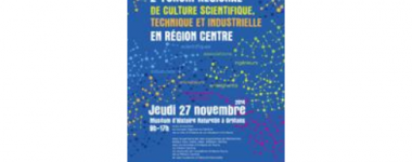 Affiche du 2ème forum régional de Culture Scientifique Technique et Industrielle en région Centre