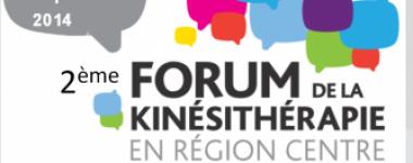 Affiche du 2ème forum de la kinésithérapie en région Centre