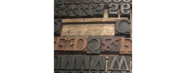 Photographie de caractères d'imprimerie