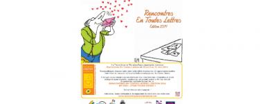 """Affiche du concours """"rencontres en toutes lettres"""""""