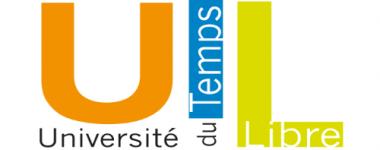 Logo de L'UTL présentant les 3 initiales, décliné en 3 couleurs, orange, bleu et vert sur fond blanc