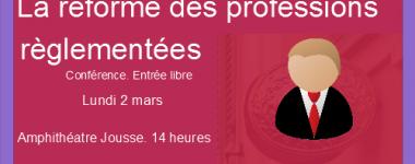 Affiche présentant un personnage numérique sur fond d'une enseigne notariale.