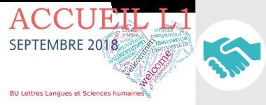 Accueil L1 septembre 2018 à la BU Lettres Langues et Sciences humaines