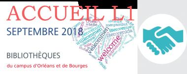 Accueil L1 septembre 2018 BU du campus d'Orléans et de Bourges